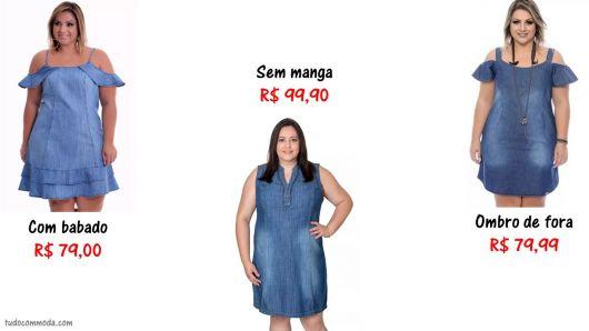 Mercado livre vestidos jeans plus size