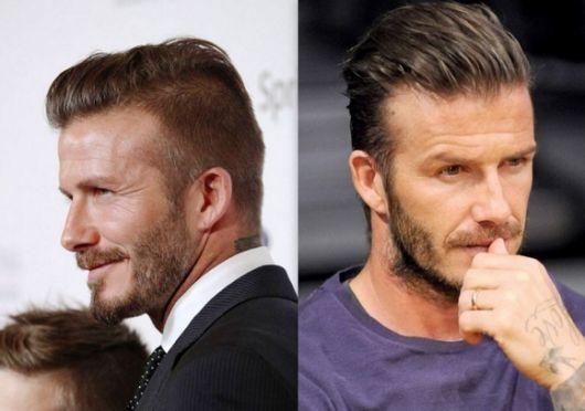 Beckham sempre foi visto com o corte slicked back e inspirouu muitos caras a seguirem o estilo