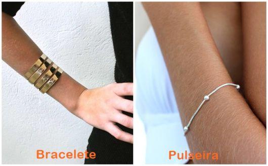 diferença entre bracelete e pulseira