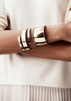 bracelete espiral prateado