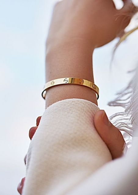 bracelete fino dourado