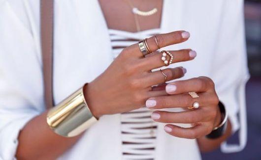 bracelete dourado liso