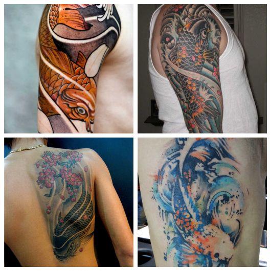 100 inspirações magníficas de tatuagem de carpa para você escolher a sua!