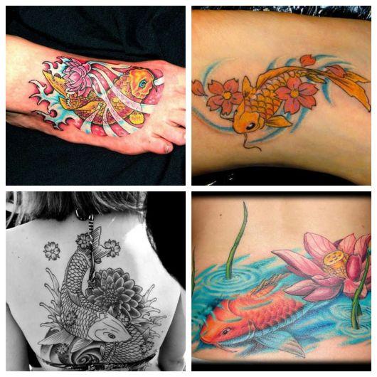 A tatuagem no pé é uma boa opção para as garotas, assim como uma tattoo destacada nas costas