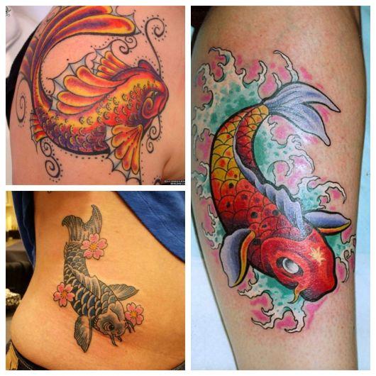 As cores e a perfeição no desenho deixam qualquer tatuagem esplêndida! Perceba os detalhes na forma do peixe