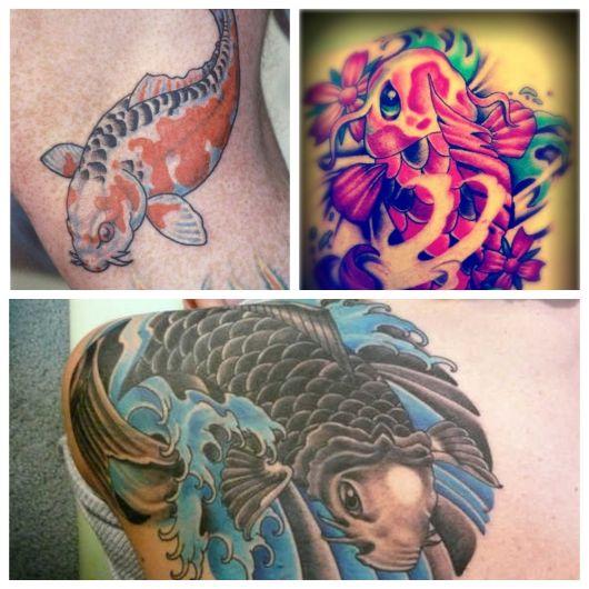 A tatuagem de carpa tem forte simbologia
