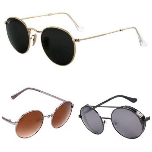 Modelos de óculos redondo masculino de sol da Chilli Beans