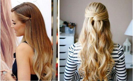 Penteados para madrinhas em cabelo longo loiro