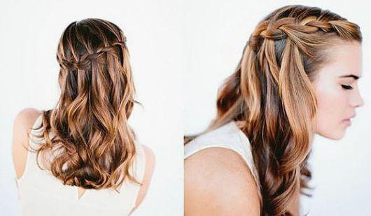 Penteados para madrinhas em cabelo solto para casamento de dia