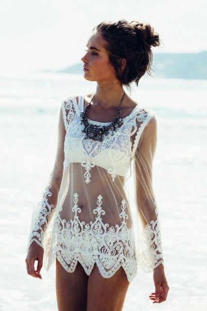 4c6858da0 Saída de Praia Branca – 51 Modelos Lindíssimos & Onde Comprar a Sua!