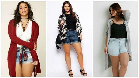 Shorts com kimonos.