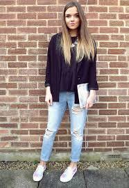 calça jeans com blazer