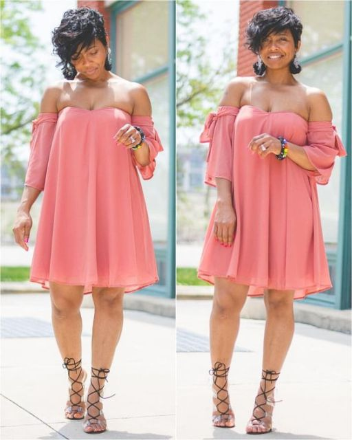 vestido plus size rosa