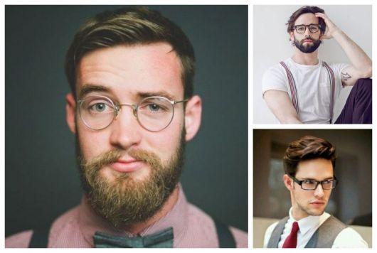 Montagem com três fotos de homens com óculos de grau.