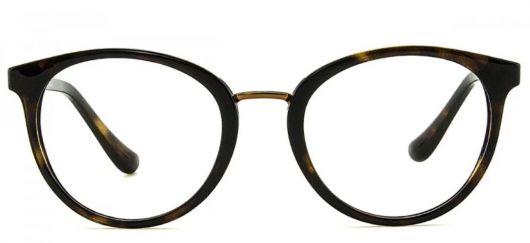 óculos de grau para rosto oval com lente redonda.