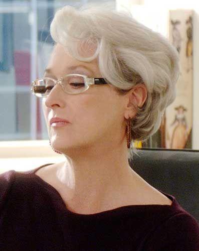 Meryl Streep, durante as gravações de O Diabo Veste Prada.