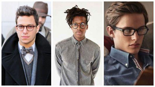 Três homens com óculos de grau.