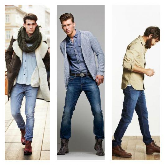São várias inspirações que mostram como a bota cano longo é uma peça coringa no estilo de vários rapazes