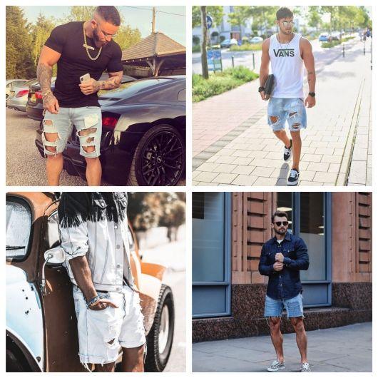 Bermuda Jeans Masculina – Como Combinar com 70 Looks Incríveis!