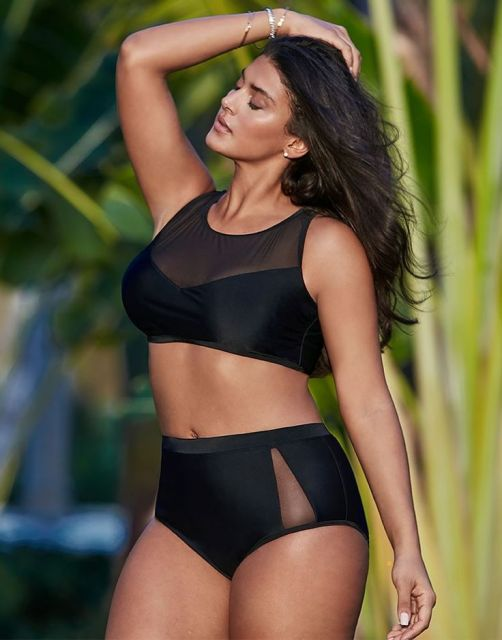 biquíni cropped plus size