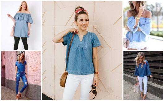 Blusa Jeans – Como Usar com 62 Looks Lindos & Dicas Maravilhosas!