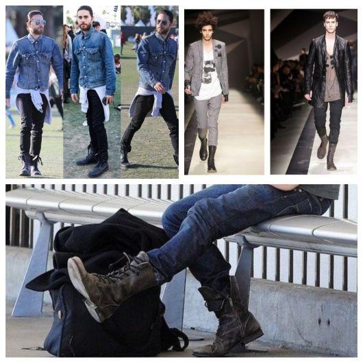 A bota causa um impacto no visual, algo que vai além de qualquer outro calçado