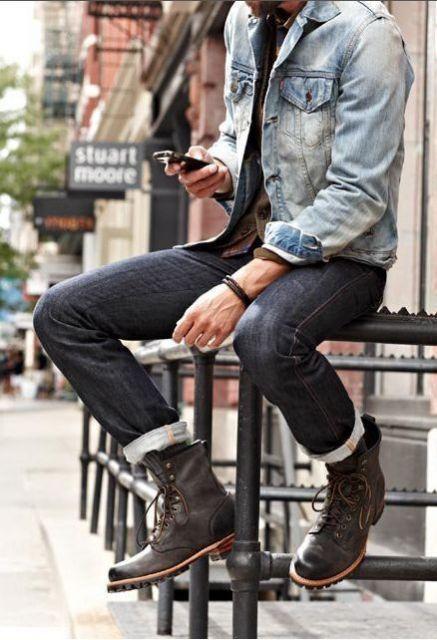 modelo de bota cano longo masculina