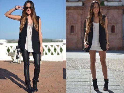 colete social feminino com short ou calça