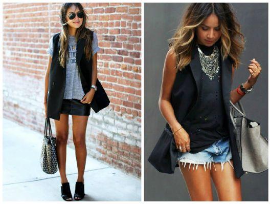 colete social feminino na moda casual