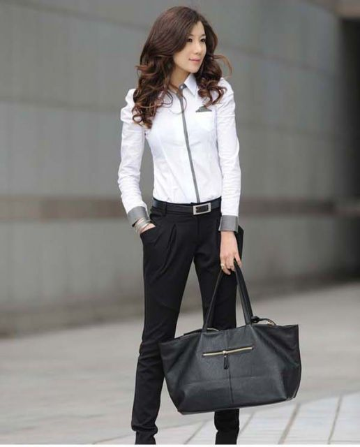 looks elegantes com camisa social feminina