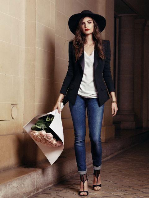 looks elegantes com calça jeans