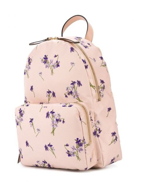 mochila rosa e lilás