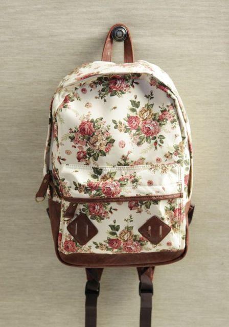 mochila de rosas