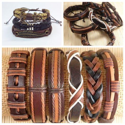 Qual pulseira de couro masculina mais combina com você? Confira mais de 50 modelos e escolha a melhor para seu estilo!