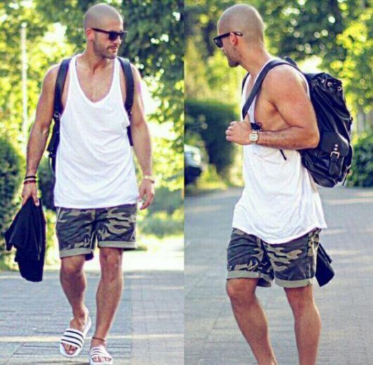 Essa versão de sandália masculina é boa para o antes e depois da academia também
