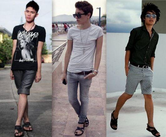 Para rapazes de vários estilos