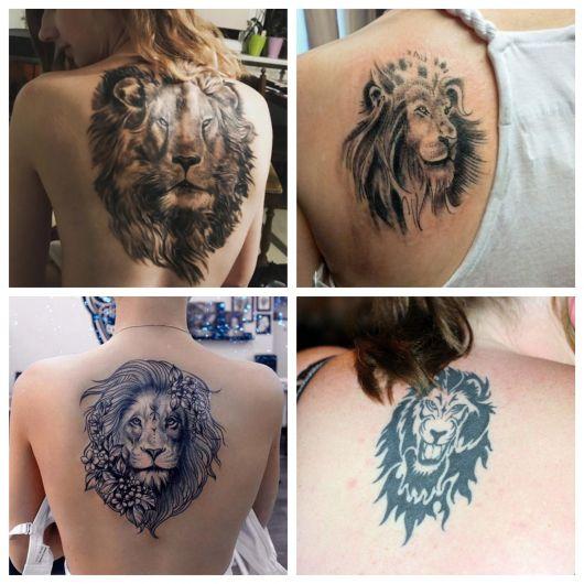A tatuagem de leão apresenta uma enorme versatilidade para mulheres de todos os gostos e idades