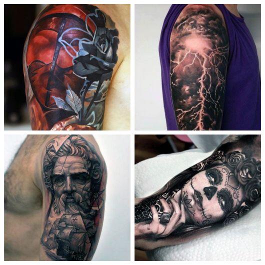 Cores, sombras e efeitos deixam sua tattoo ainda mais bonita!
