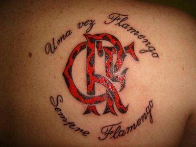 Uma vez Flamengo, sempre Flamengo - referência ao hino do clube
