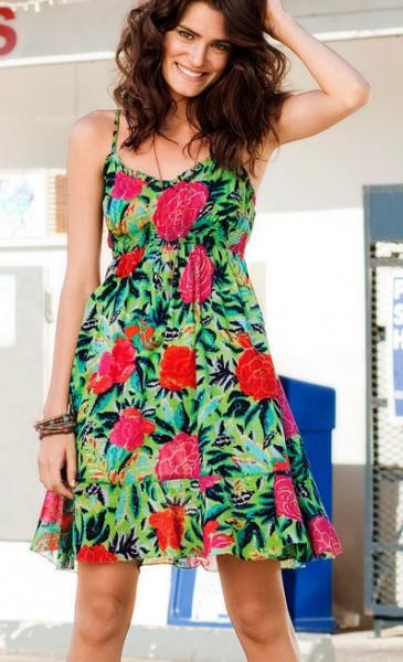 vestido havaiano soltinho floral