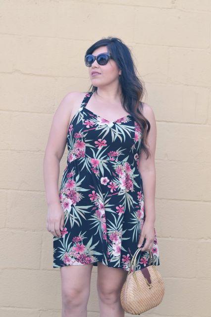 vestido havaiano plus size