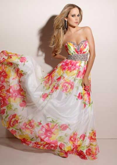 vestido havaiano luxo para festas
