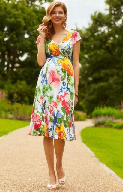 vestido havaiano floral
