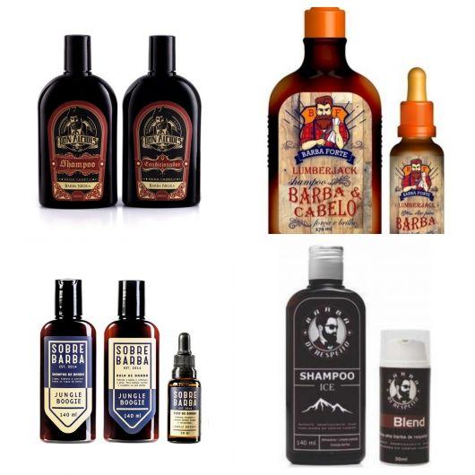 Tipos de shampoo e condicionador para a barba