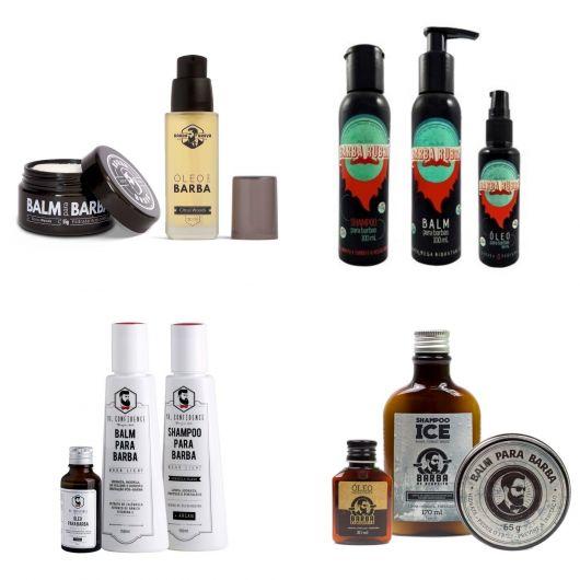 Tipos de óleo e balm para a barba