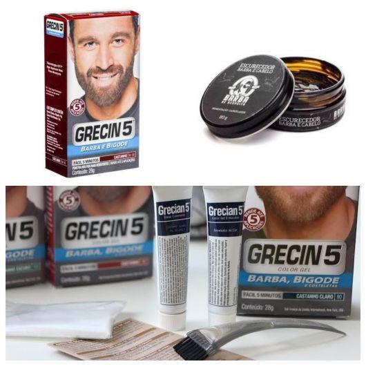 Produtos para pintar e escurecer a barba