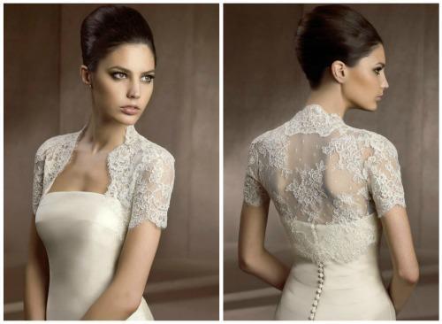 bolero com vestido de noiva