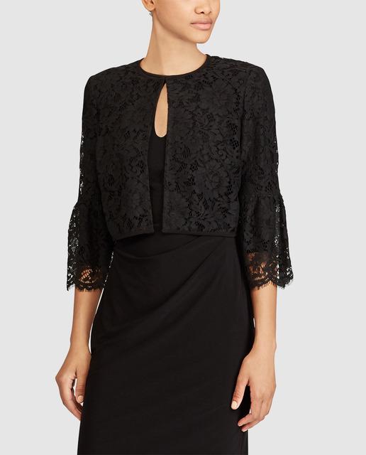 vestido com bolero preto