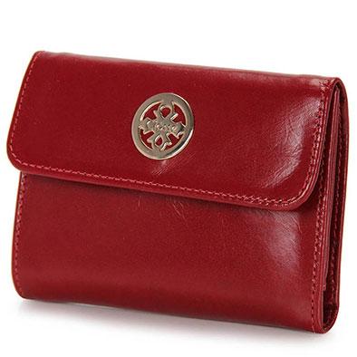 modelo de carteira vermelha.