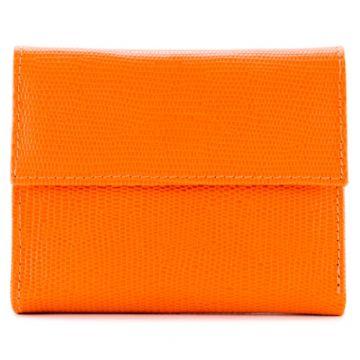 carteira feminina laranja.